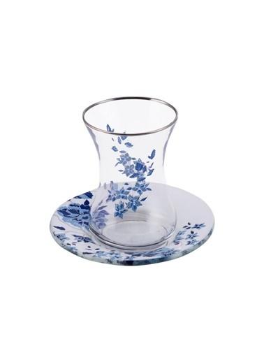 Karaca Miriam Çay Seti 6 Kişilik Yuvarlak Renkli